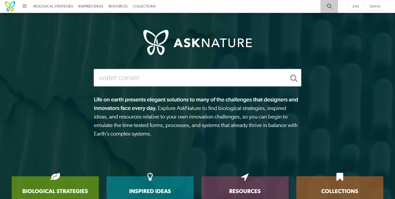 AskNature – Innovation Inspired by Nature